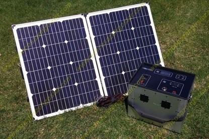 یک نمونه از باتری ژانراتور خورشیدی